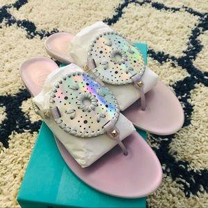 Jack Rogers Georgica Jelly Hologram Sandals